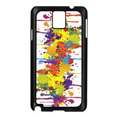 Crazy Multicolored Double Running Splashes Samsung Galaxy Note 3 N9005 Case (black)