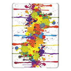 Crazy Multicolored Double Running Splashes Ipad Air Hardshell Cases