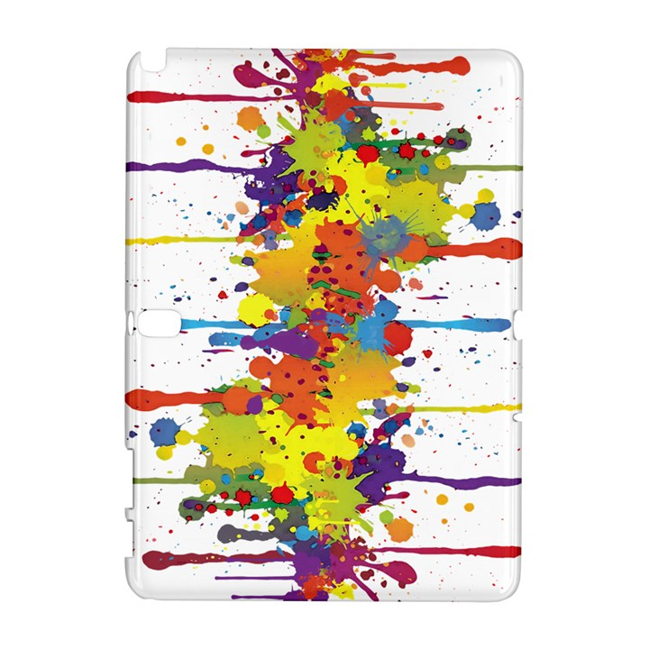 Crazy Multicolored Double Running Splashes Samsung Galaxy Note 10.1 (P600) Hardshell Case