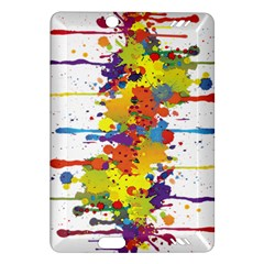 Crazy Multicolored Double Running Splashes Amazon Kindle Fire Hd (2013) Hardshell Case by EDDArt
