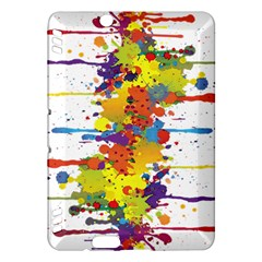 Crazy Multicolored Double Running Splashes Kindle Fire Hdx Hardshell Case by EDDArt