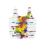 Crazy Multicolored Double Running Splashes Full Print Recycle Bags (S)  Back