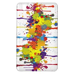 Crazy Multicolored Double Running Splashes Samsung Galaxy Tab Pro 8 4 Hardshell Case