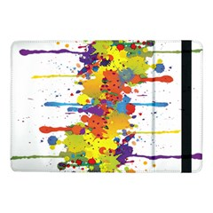 Crazy Multicolored Double Running Splashes Samsung Galaxy Tab Pro 10 1  Flip Case by EDDArt