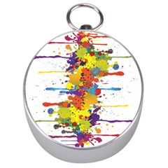 Crazy Multicolored Double Running Splashes Silver Compasses