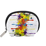 Crazy Multicolored Double Running Splashes Accessory Pouches (Small)  Front