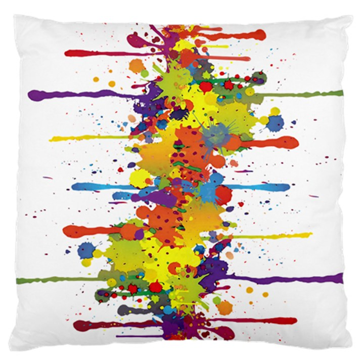 Crazy Multicolored Double Running Splashes Standard Flano Cushion Case (Two Sides)