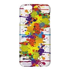 Crazy Multicolored Double Running Splashes Apple Iphone 6 Plus/6s Plus Hardshell Case by EDDArt
