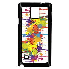 Crazy Multicolored Double Running Splashes Samsung Galaxy Note 4 Case (black)