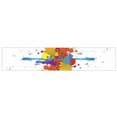 Crazy Multicolored Double Running Splashes Flano Scarf (small) by EDDArt