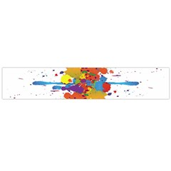 Crazy Multicolored Double Running Splashes Flano Scarf (large)
