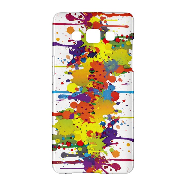 Crazy Multicolored Double Running Splashes Samsung Galaxy A5 Hardshell Case