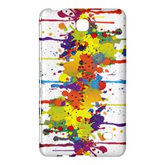 Crazy Multicolored Double Running Splashes Samsung Galaxy Tab 4 (7 ) Hardshell Case  by EDDArt