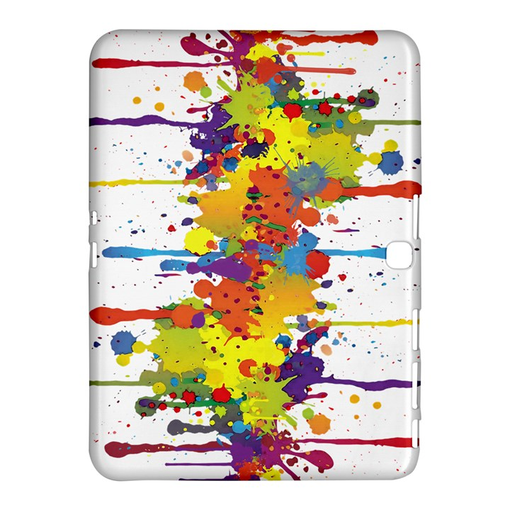 Crazy Multicolored Double Running Splashes Samsung Galaxy Tab 4 (10.1 ) Hardshell Case