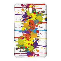 Crazy Multicolored Double Running Splashes Samsung Galaxy Tab S (8 4 ) Hardshell Case