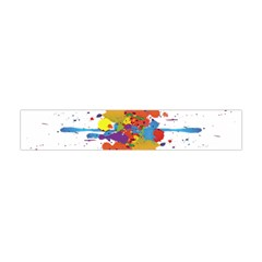 Crazy Multicolored Double Running Splashes Flano Scarf (mini)