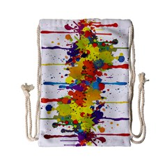 Crazy Multicolored Double Running Splashes Drawstring Bag (small)
