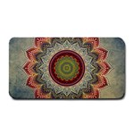 Folk Art Lotus Mandala Dirty Blue Red Medium Bar Mats 16 x8.5 Bar Mat - 1