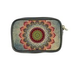 Folk Art Lotus Mandala Dirty Blue Red Coin Purse Back