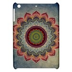 Folk Art Lotus Mandala Dirty Blue Red Apple iPad Mini Hardshell Case