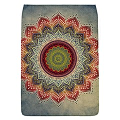 Folk Art Lotus Mandala Dirty Blue Red Flap Covers (s)  by EDDArt
