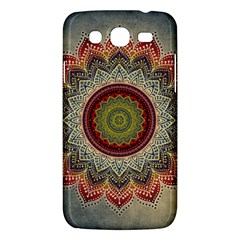 Folk Art Lotus Mandala Dirty Blue Red Samsung Galaxy Mega 5 8 I9152 Hardshell Case