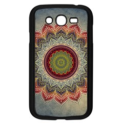 Folk Art Lotus Mandala Dirty Blue Red Samsung Galaxy Grand Duos I9082 Case (black) by EDDArt