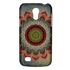 Folk Art Lotus Mandala Dirty Blue Red Galaxy S4 Mini
