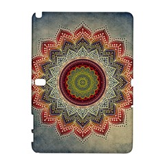 Folk Art Lotus Mandala Dirty Blue Red Samsung Galaxy Note 10 1 (p600) Hardshell Case