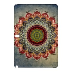 Folk Art Lotus Mandala Dirty Blue Red Samsung Galaxy Tab Pro 12 2 Hardshell Case by EDDArt
