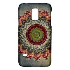 Folk Art Lotus Mandala Dirty Blue Red Galaxy S5 Mini
