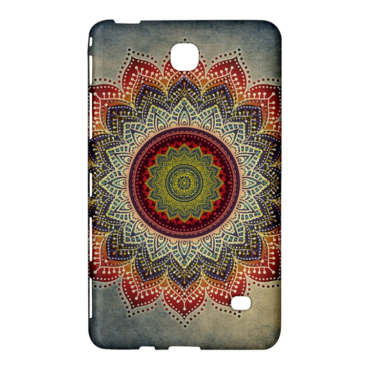 Folk Art Lotus Mandala Dirty Blue Red Samsung Galaxy Tab 4 (8 ) Hardshell Case