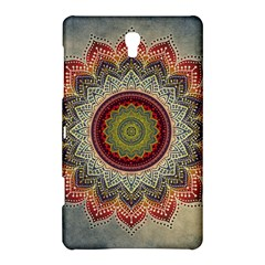 Folk Art Lotus Mandala Dirty Blue Red Samsung Galaxy Tab S (8 4 ) Hardshell Case
