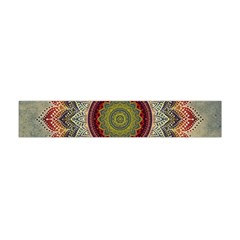 Folk Art Lotus Mandala Dirty Blue Red Flano Scarf (mini)