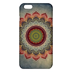 Folk Art Lotus Mandala Dirty Blue Red Iphone 6 Plus/6s Plus Tpu Case by EDDArt