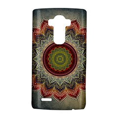 Folk Art Lotus Mandala Dirty Blue Red Lg G4 Hardshell Case by EDDArt