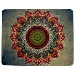 Folk Art Lotus Mandala Dirty Blue Red Jigsaw Puzzle Photo Stand (rectangular)