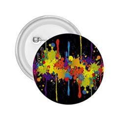 Crazy Multicolored Double Running Splashes Horizon 2 25  Buttons by EDDArt