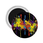 Crazy Multicolored Double Running Splashes Horizon 2.25  Magnets Front