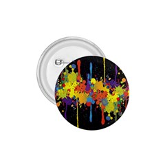 Crazy Multicolored Double Running Splashes Horizon 1 75  Buttons by EDDArt