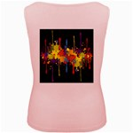 Crazy Multicolored Double Running Splashes Horizon Women s Pink Tank Top Back
