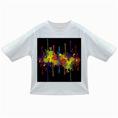 Crazy Multicolored Double Running Splashes Horizon Infant/toddler T Shirts by EDDArt
