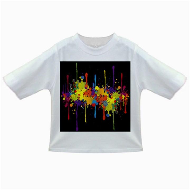 Crazy Multicolored Double Running Splashes Horizon Infant/Toddler T-Shirts