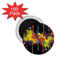 Crazy Multicolored Double Running Splashes Horizon 1 75  Magnets (100 Pack)  by EDDArt