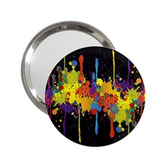 Crazy Multicolored Double Running Splashes Horizon 2 25  Handbag Mirrors by EDDArt