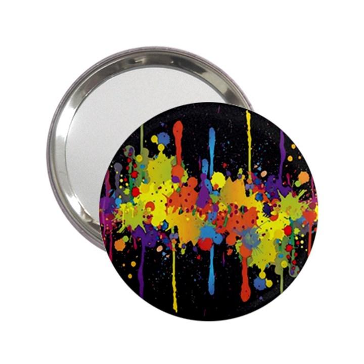 Crazy Multicolored Double Running Splashes Horizon 2.25  Handbag Mirrors