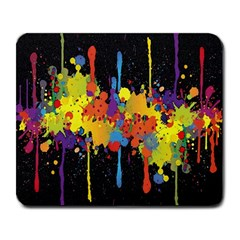 Crazy Multicolored Double Running Splashes Horizon Large Mousepads by EDDArt