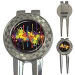 Crazy Multicolored Double Running Splashes Horizon 3-in-1 Golf Divots