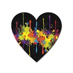 Crazy Multicolored Double Running Splashes Horizon Heart Magnet Front