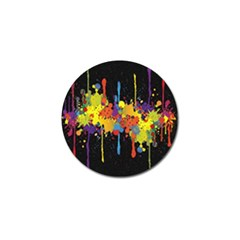 Crazy Multicolored Double Running Splashes Horizon Golf Ball Marker (4 Pack) by EDDArt